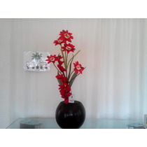 Arreglo Floral Artificial En Maceta Flores Lilys Mma