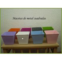 Macetas De Metal Canastas, Jarras Regadera