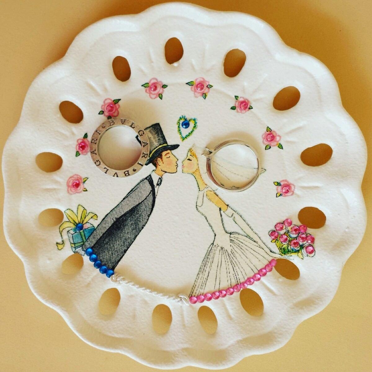 Plato del anillo de bodas