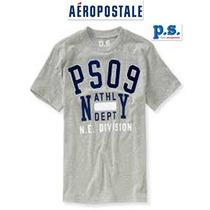 Playera Nino 12/14 Anos P.s. Aeropostale Gris 100% Algodon!!