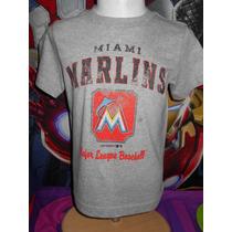 Miami Marlins Mlb Playera Genuine M Infantil Talla Xs Import