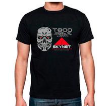 Playera Terminator T 800 Skynet Catalogo Peliculas 80s