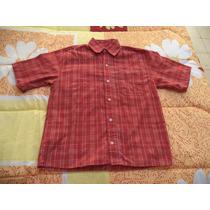 Camisa Casual Roja De Cuadros P/niño 100% Algodon Talla 10