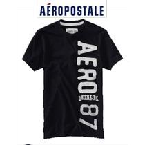Aeropostale Playera Chica S Hombre Nino Negra Padrisima Ve!!