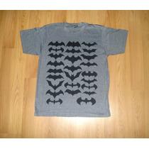 Playera Batman History Logos Escudos Evolución Dark Knight