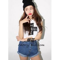 Playera Crop Top Cruz Kawaii Moda Japonesa Japon Corea