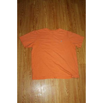 Playera Nautica Color Naranja Talla M Algodon Egipcio