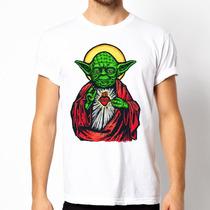 Playera Camiseta Star Wars Yoda 100% Calidad