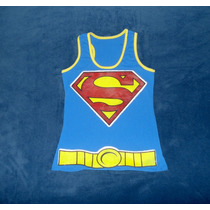 Blusa Camiseta Superman Supergirl Superchica Tank Superheroe