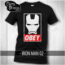 Playeras Iron Man Obey Civil War Avengers Tony Stark Marvel