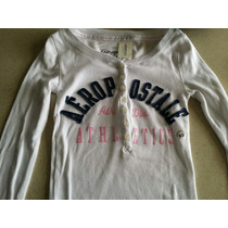 Camisa Playera Manga Larga Aeropostale Mujer Original Oferta
