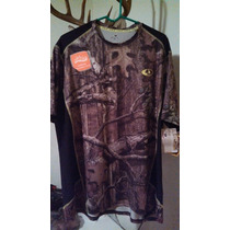 Playera Camo Mossy Oak Tela Dri More Tech