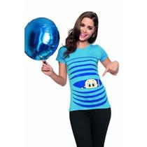 Playera Embarazada Aditivo Para Dama Bebé Azul