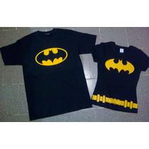 Playeras Batman Batichica Camisas Iguales De Parejas Novios