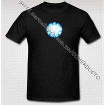 Playera Iron Man Tony Stark Reactor Arc Version 2 Triangulo