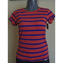 Blusas Hollister Co. T-s Nueva Original Rayada