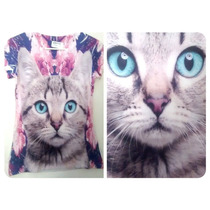 Playera Camiseta Sublimada Gato Totoro Frida Pusheen Weed