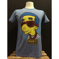 Playera Nerd The Simpson Máscara De Látex
