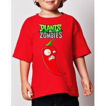 Playeras Plantas Vs Zombies 1 Y 2 Todas Tallas! 100% Calidad