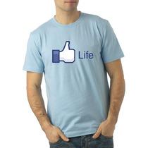 Playera O Camiseta Facebook Life Like A La Moda!!!