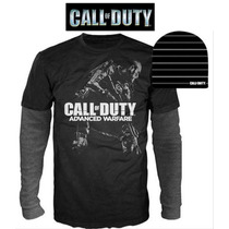 Combo Set Xxl Call Of Duty Beanie Gorra Playera Manga Larga