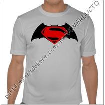 Playera Batman V Superman Dawn Of Justice Plata Vinil Svye