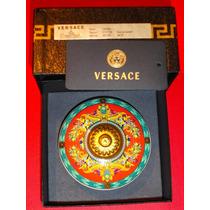 Versace Bombonera De Porcelana Alemana Rosenthal Oro 24 K
