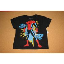 Playera Spiderman Niño Disney Store 2-3 Años
