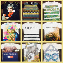 Lote 5 Playeras Armani Exchange, Boss, Lv, Gucci, Diesel