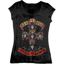 Blusa Guns N Roses - Apettite For Destruction Rock Peral Jam