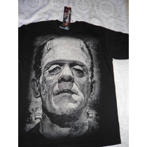 Playera Frankenstein Y Monstruos Clasicos Del Cine Y Tv