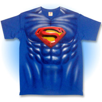 Playera Superman, Musculos, Disfraz, Comic, Fiesta, Regalo