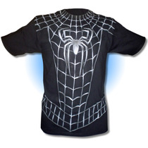 Playera Spidertraje Negro, Spider Man, Disfraz, Traje, Araña