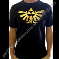 Playera Zelda Triforce Dorada Brillante