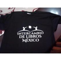 Playeras Del Intercambio De Libros México Estampado Vinil