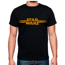 Playera Star Wars Original Logo Distressed Mas Catalogo