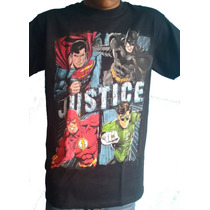 Camiseta Justice League 2 De Dc Comics Talla Ch Unisex