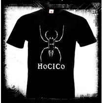 Hocico - Spider Logo Camiseta Industrial Ebm Gotico