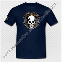 Playera Metal Gear The Phantom Pain Outer Heaven Azul Marino