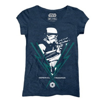 Playeras Star Wars Imperial Trooper Mujer Mascara De Latex