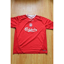 Jersey Reebok Del Liverpool Local Talla 42-44 Color Rojo