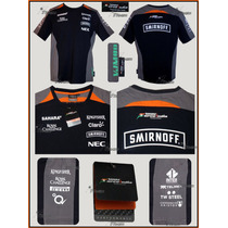 playera Sahara Force India F1 Autentica 2015 Sergio Perez