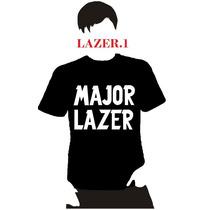 Playera Dj Major Lazer, Hombre Niño Dama Promo 4 X 5