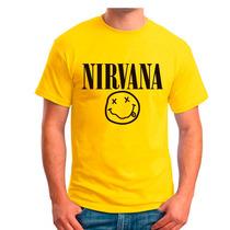 Playera Nirvana Rock Bandas Mas Promociones Envio Gratis