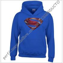 Sudadera Man Of Steel Azul Rey Sudadera Superman Fhby