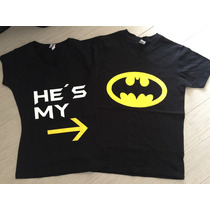 Pkt Playeras Batman Pareja Novios San Valentin