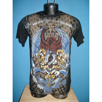 Autenticas Playeras Christian Audigier Logo Mexicano Ed Hard