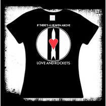 Blusa Love And Rockets - Heaven Above Bauhaus Gotico New Wav