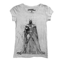 Playera Batman Sketch Mujer De Mascara De Latex