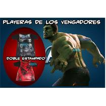 ¡¡¡liquidacion¡¡¡¡ Playeras De Los Vengadores Thor Y Hulk